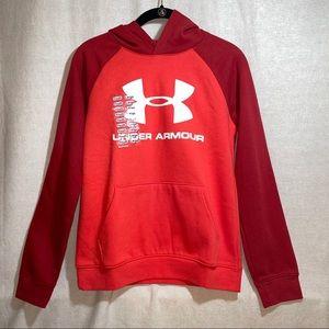 UnderArmour ColdGear Boy Red/Orange Fleece hoodie